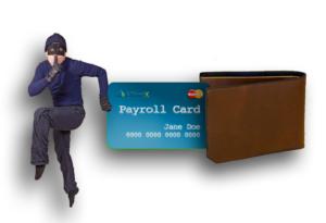 thief stealing card