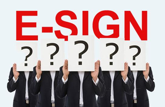 five-E-SIGN-questions